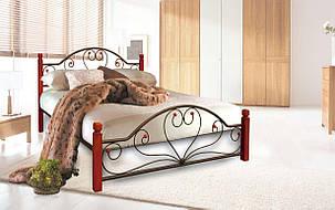 ✅Металлическая кровать Джоконда Вуд 140х190 см ТМ Металл-Дизайн, фото 2