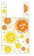 Пакеты полиэтиленовые майка,Апельсин,, 30-55 см /уп-100шт
