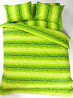 Постельное белье Lotus Ranforce - Metropolis зеленое полуторное