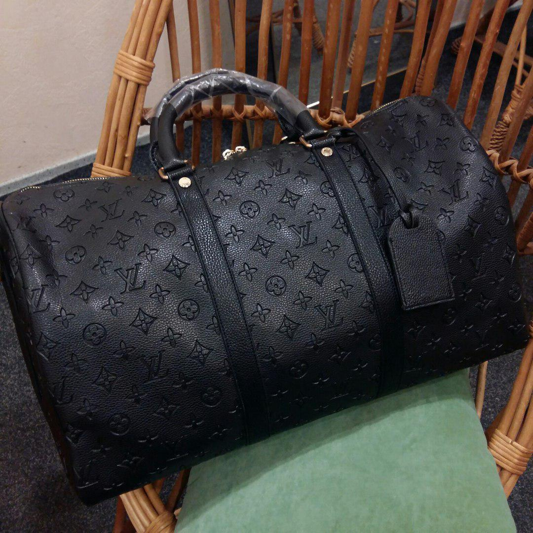 c384efafe487 Сумка Louis Vuitton Keppall черная, монограмм, Люкс-копия - Nice shop -  Сумки