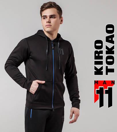 Толстовка мужская весенняя Киро Токао 420 черный-электрик