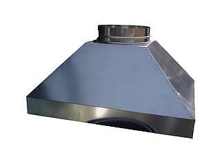 Зонт кухонный вытяжной пристенный из нержавеющей стали без жироулавливателя