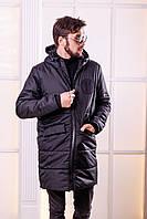 Зимнее мужское пальто на синтепоне и меху
