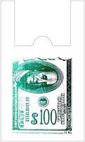 """Пакеты полиэтиленовые майка """"Доллар"""" 28-46 см см /уп-250шт"""