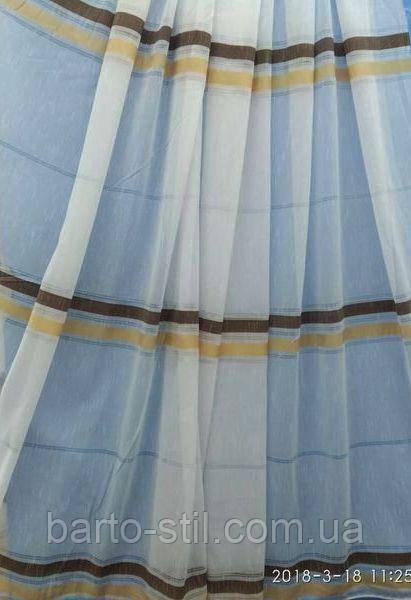 Тюль с горизонтальными полосками Оптом и на метраж Высота 2.8 м