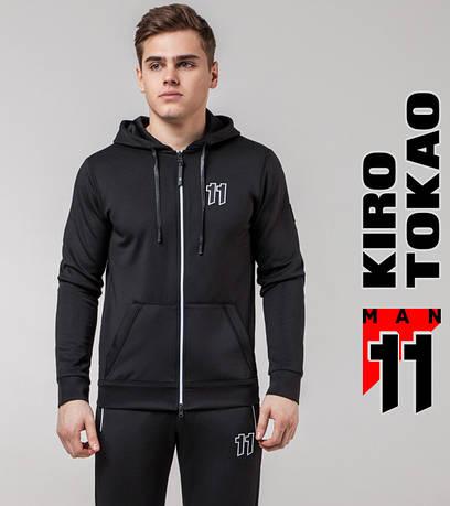 Мужская толстовка на весну Kiro Tokao 492 черный-белый
