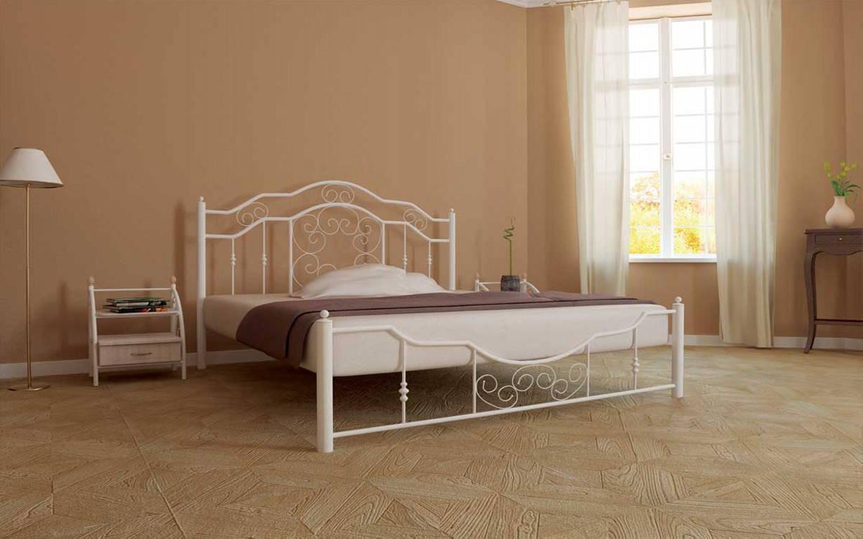 ✅Металева ліжко Кармен 140х190 см ТМ Метал-Дизайн