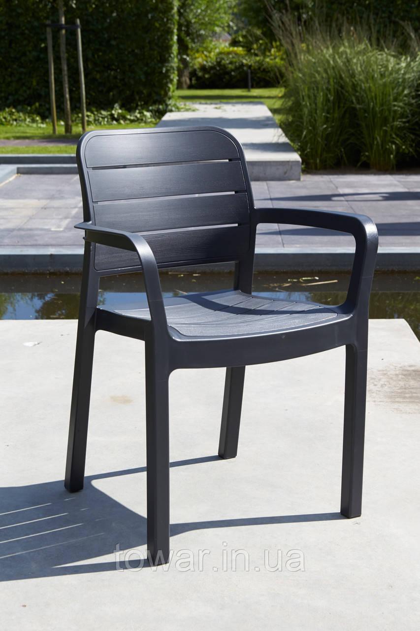 Садовая мебель TISARA столовый ресторанный стул графит