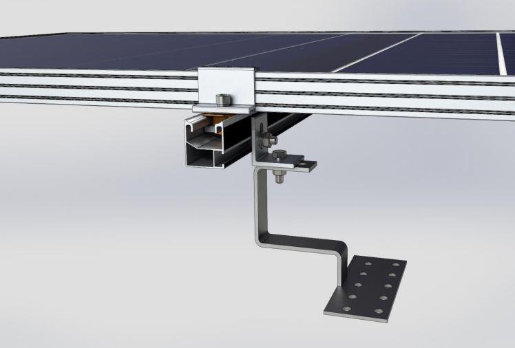 Система креплений солнечных батарей для размещения на крыше (керамической черепице)