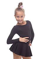 Платье для танцев и гимнастики (купальник+юбка) трикотаж