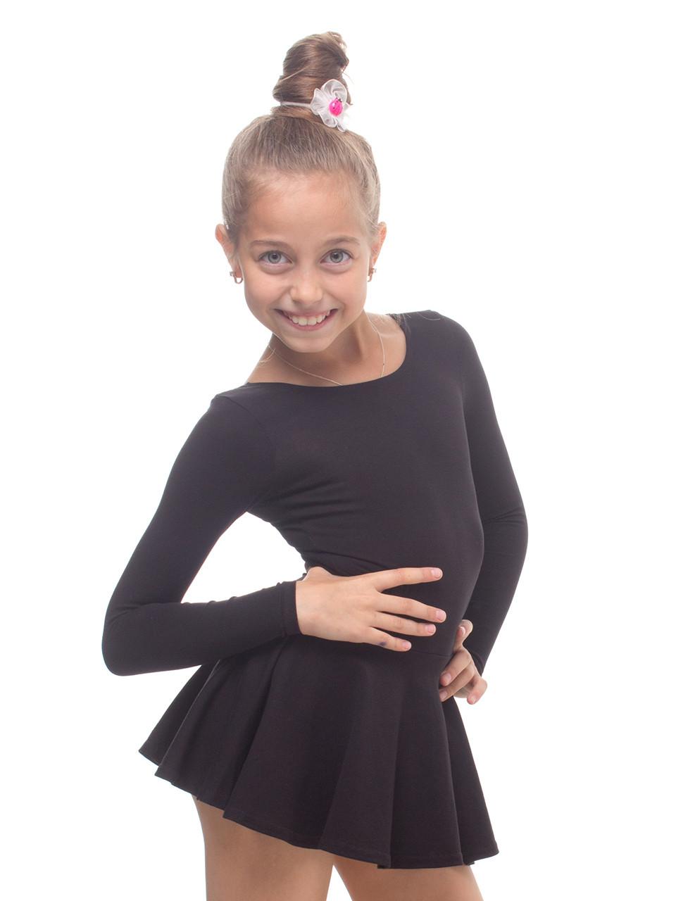 Платье для танцев и гимнастики (купальник+юбка) трикотаж - Интернет-магазин