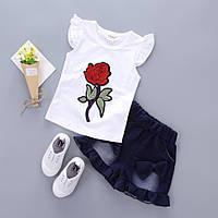 Комплект детский для девочки шорты и футболка для девочки
