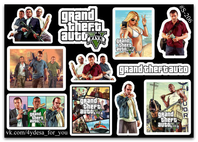 Stickers Pack GTA #206