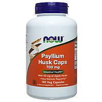 Шелуха семян подорожника с пектином Now Foods Psyllium Husks, 700 мг 180 капсул