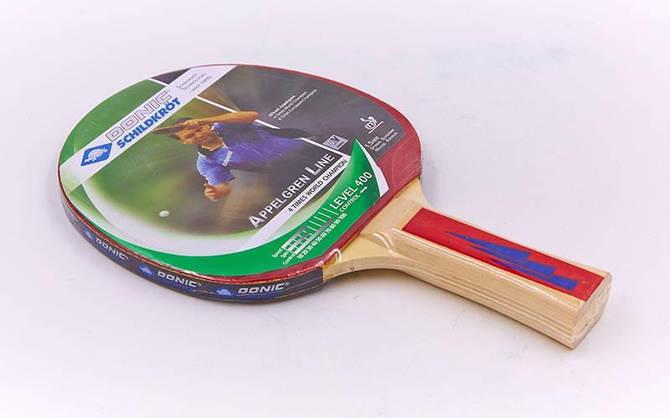 Ракетка для настільного тенісу 1 штука дублікат DONIC МТ-400 713039 APPEL GREN 400 (деревина, гума)