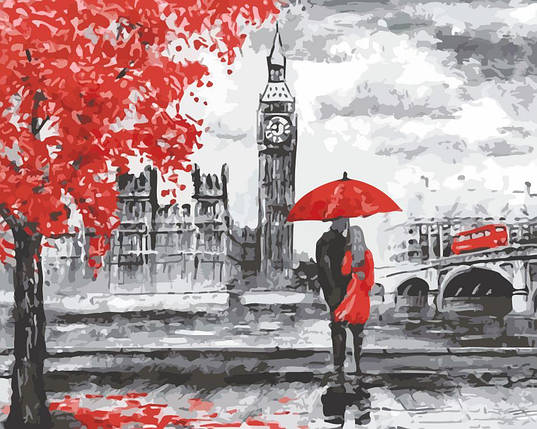 AS0145 Набор-раскраска по номерам Прогулка по Лондону, фото 2