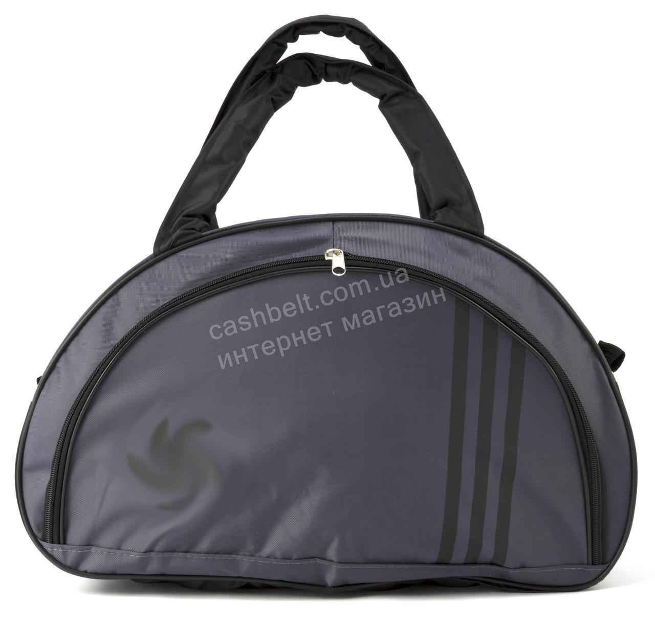 Спортивная женская средняя тканевая сумка art. 139 Украина (102637) серая