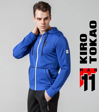 Толстовка мужская на весну Kiro Tokao 579 электрик-белый