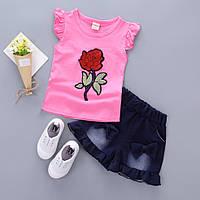 Комплект летний для девочки шорты и футболка для девочки