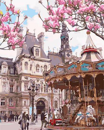 AS0147 Набор-раскраска по номерам Городская площадь, фото 2