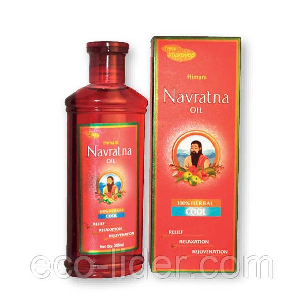 Аюрведическое масло для массажа головы и тела ТМ Navratna 100 мл