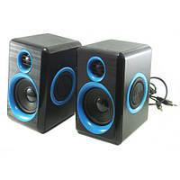 Колонки для ПК компьютера F&T FT-165 Black Blue, фото 1
