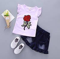 Набор детский для девочки футболка и шорты