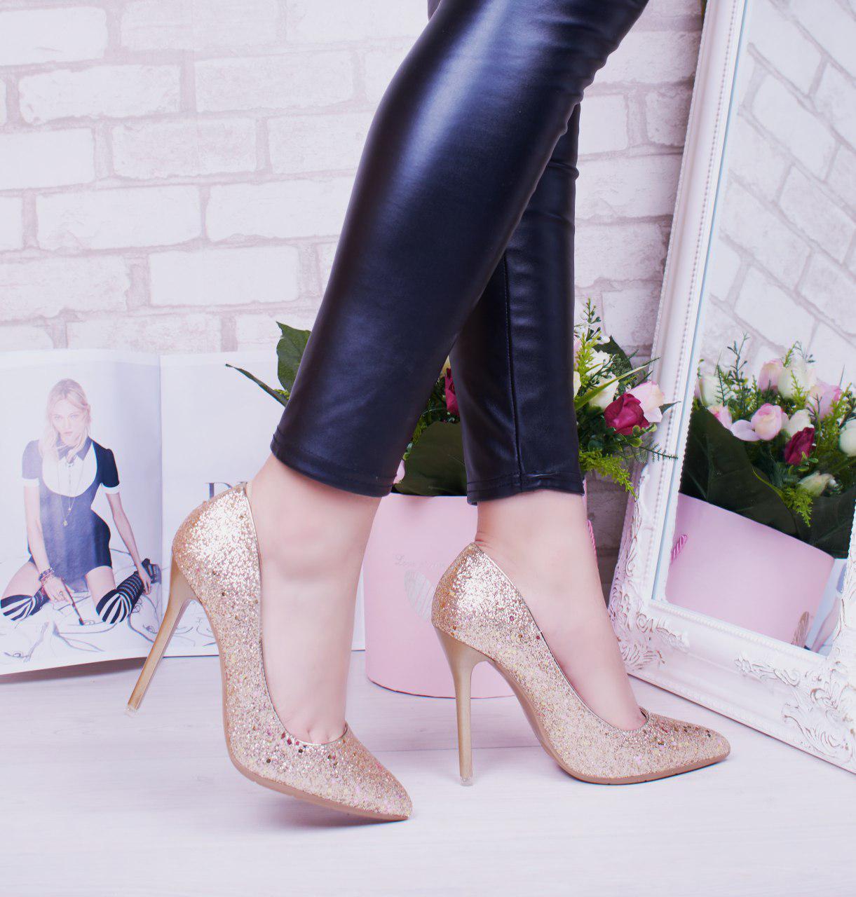 """Туфли лодочки женские, битое стелко """"Tiffani"""" обувь на шпильке"""