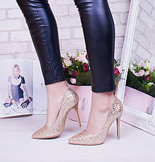 "Туфли лодочки женские, битое стелко ""Tiffani"" обувь на шпильке, фото 3"