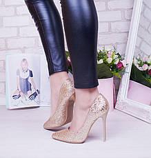 "Туфли лодочки женские, битое стелко ""Tiffani"" обувь на шпильке, фото 2"