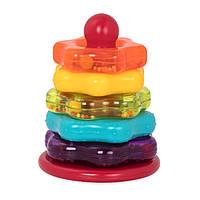 Развивающая игрушка Battat Lite - Цветная пирамидка (BT2579Z)