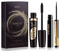 Подарочный набор Make Up, Faberlic, Тушь+Жидкая подводка, Мэйк Ап Фаберлик, 5520