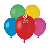 """Повітряні кульки асорті пастель 5"""" (13 см) круглі латексні кульки Gemar"""
