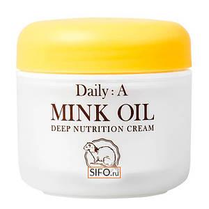 Питательный крем с жиром норки DEOPROCE Daily: A Mink Oil Deep Nutrition Cream