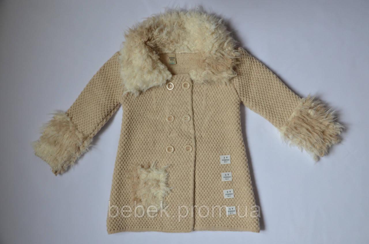 вязаное пальто для девочки цена 670 грн купить в одессе Promua