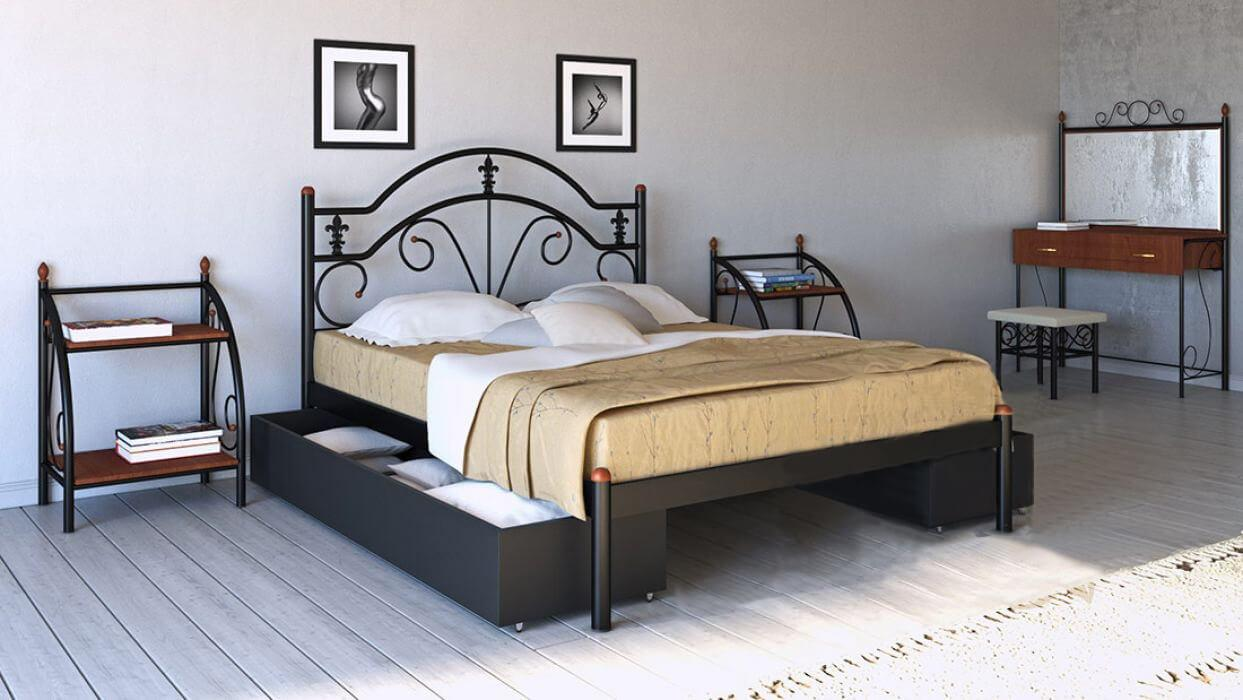 ✅Металева ліжко Діана 80х190 см ТМ Метал-Дизайн