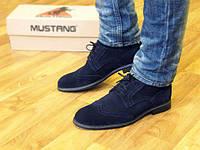 Туфли мужские замшевые броги