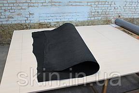 Кожа натуральная ременная черная, толщина 3.4 мм, арт. СК 1609, фото 2