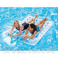 Пляжный надувной матрас BestWay синий 193 х 142 см, фото 2