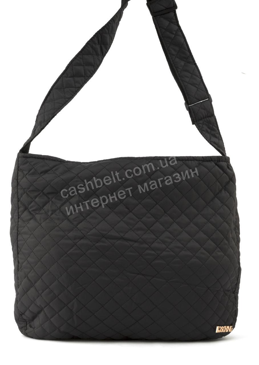 Женская стеганая спортивная тканевая сумка почтальонка art. 29-24