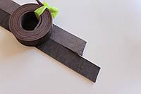 Полосы натуральной кожи для ремней и ошейников не обработанные коричневые, толщина 3.4 мм, арт. СКУ 9002.1661