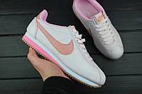 "Кроссовки женские Nike Classic Cortez Leather Lux ""Pearl Pink"" / 861660-600, Найк Кортез (Реплика)"