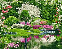 Алмазная мозаика: Волшебная весна, 40 × 50, GF1271