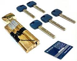 Цилиндр Apecs Premier XR 80 мм. с поворотником золото
