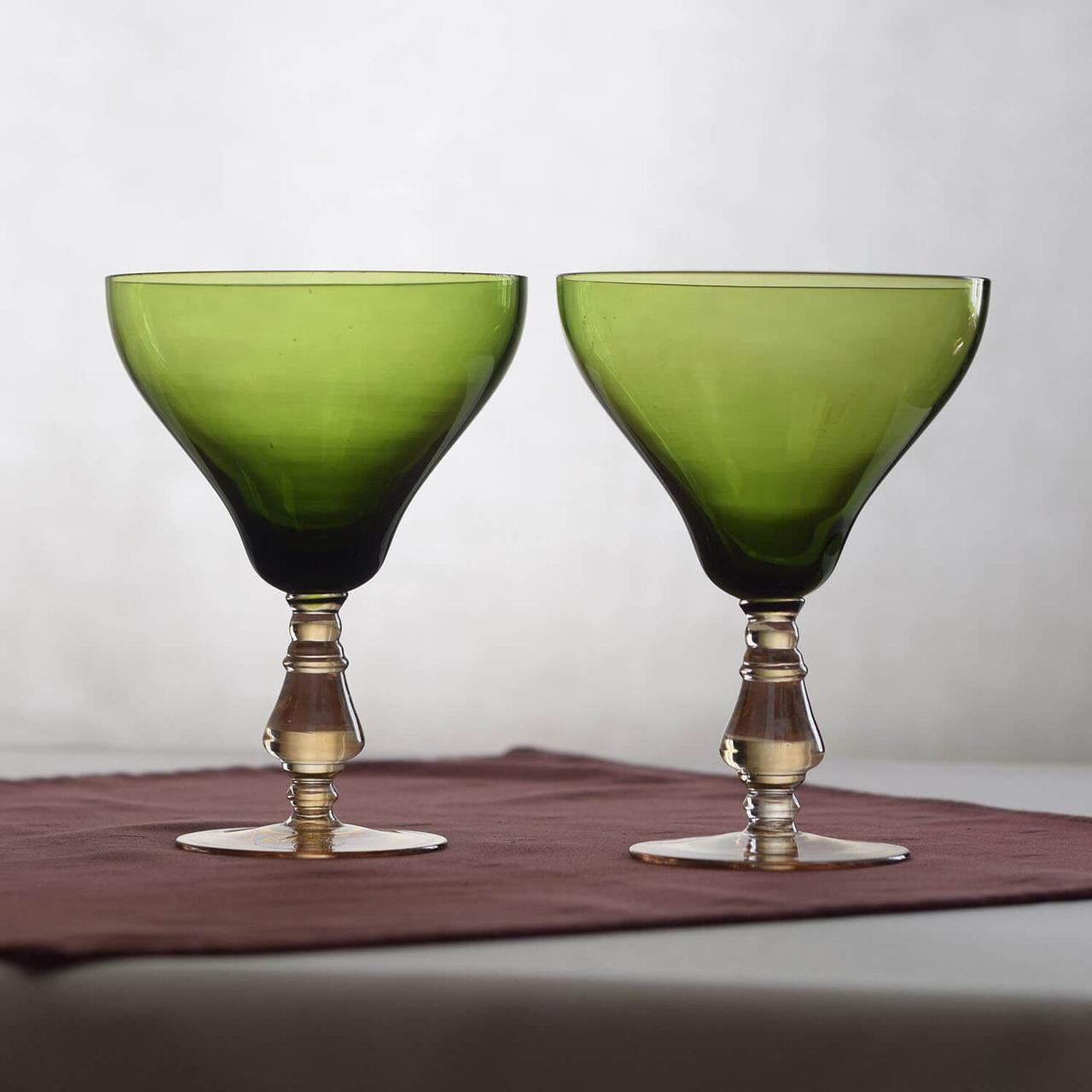Комплект бокалов для красного вина 2шт. зеленый