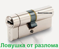 Цилиндр Kale 164 KTB S 70мм.(30х10х30) никель
