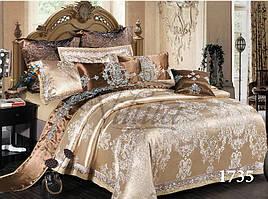 Семейный комплект постельного белья сатин жаккард Tiare 1735
