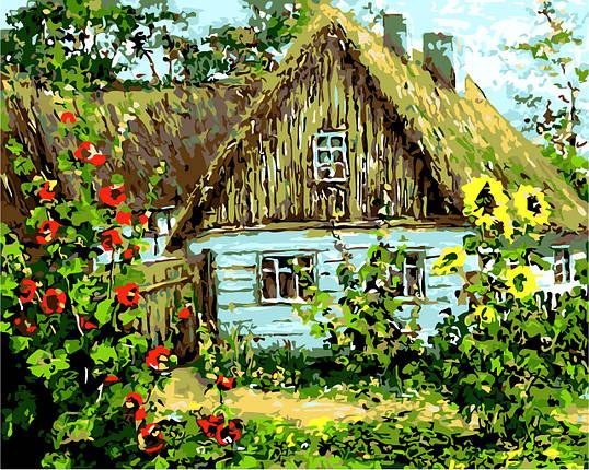 AS0159 Набор-раскраска по номерам Украинская хата, фото 2