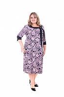 Нарядное платье Шарфик большого размера (60. 62), элегантное женское платье батал