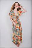 Пляжное платье туника женская шифон цветная длинная парео Calipso 054, фото 2